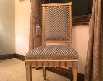Gold and Sage Royal Armless Chair