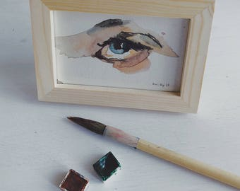 Watercolor Framed Eye