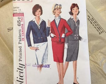 Vintage Simplicity Pattern 5595  Junious'and Misses' Suit