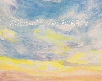 Oroville Sunset sky painting