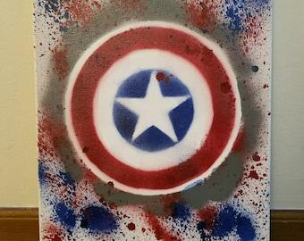 Captain America Superhero Spray Paint