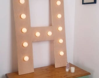 large Custom Wooden Lettering With Lights