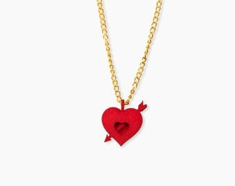 3d Printed necklace with heart