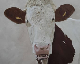 Cow in oil painting 3