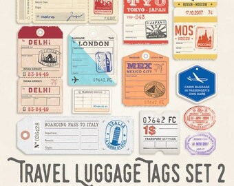 Travel Luggage Illustrations Set 2