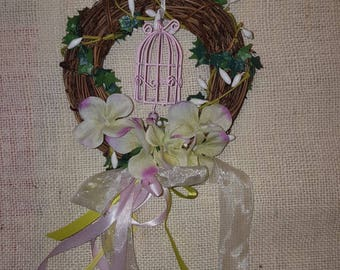 Wreath Garland Springs Flowers floral composition with cage
