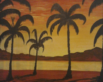 Palm Trees in th Sunset
