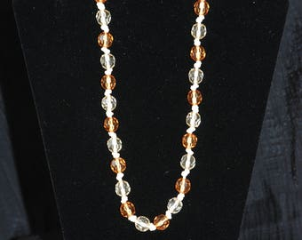 Amber and Beige Necklace