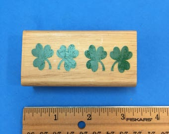 Four Clover Rubber Stamp