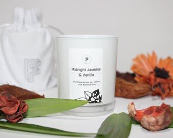 Midnight Jasmine & Vanilla Soy Aromatherapy Candle