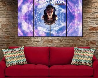 Ghost Recon Wildlands Canvas Poster 4 panel large canvas art / Wall Art Picture, decor, interior design, birthday gift, bedroom, livingroom