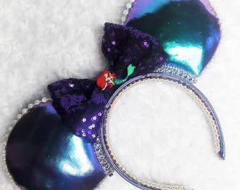 Little Mermaid Minnie Ears Iridescent