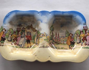 Vintage Lancaster England Sectioned Serving Bowl or Candy Dish