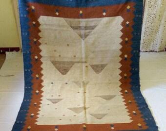 killim vintage carpet handmade unique of king; TAZNAKHAT CARPET