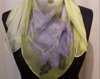 Scarf Schaltuch silk scarf hand painted chiffon