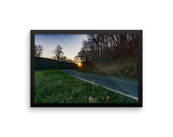 Blue Ridge Parkway Sunrise (framed)