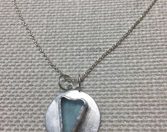 Heart sea glass necklace