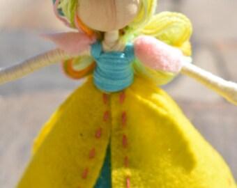 Handmade Tulip Princess Felt Bendy Doll
