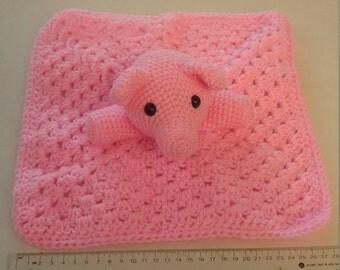 Pink Pig Lovey Blanket