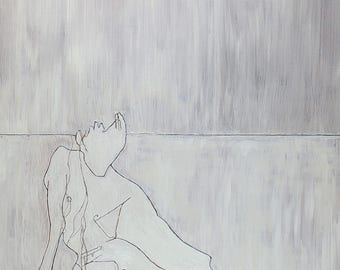 Male figure in grey