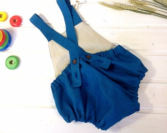 blue romper for baby