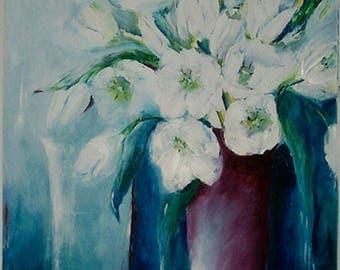Vita Tulparna, white tulips