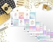 166: Magical Unicorns Weekly Sticker Kit - Planner Stickers - Pastel Stickers - Unicorn Stickers