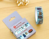 laundry clothesline wash clothing clothes happy mail snailmail washi tape masking scrapbook planner diy craft journal traveler's notebook tn