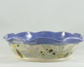 Ceramic Pie Plate, Pie Baking Pan, Wine Bottle Coaster, Ceramic Bakeware, Kitchen cooking and serving dish, Pie Pan, Pie Dish