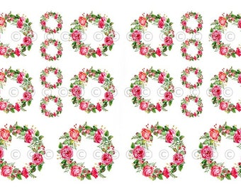 Pink Flower Decals, Decorate Flame-less Candles, Soap, Glass, Home Decor, Furniture, Magnets, Jewelry, Craft Projects, Scrapbooks