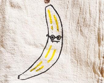 Banana Kitchen Towel, BARB BANANA Fanged Fruit