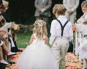 Pinterest dress, Style Me Pretty, Ivory Flower Girl, Tutu Dress, Weddings, Flower girl dress, girls dress, tulle dress, tea length, gowns