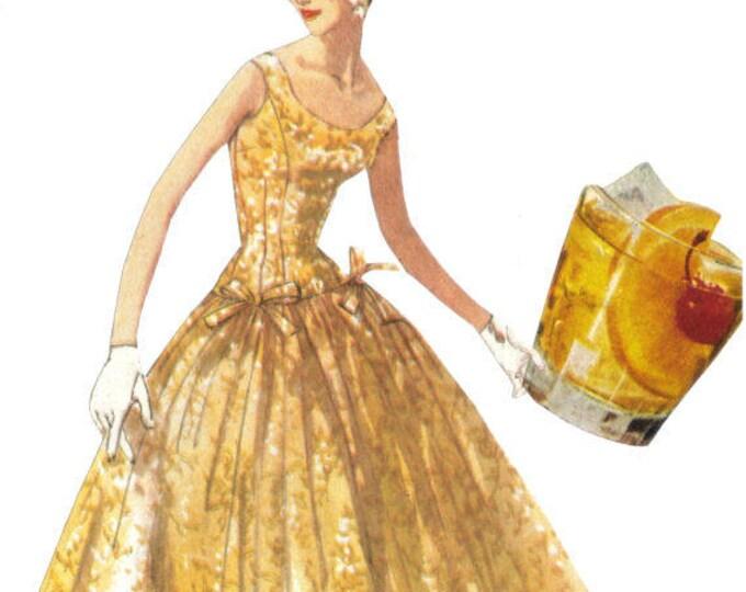 TGIF Cocktail Hour Artwork, Booze Art Collage