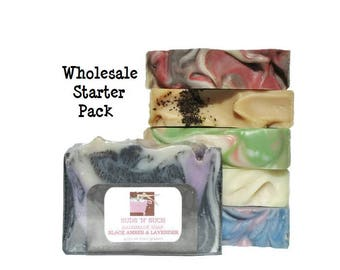 Wholesale Soap Starter Pack - 60 Bars of Handmade Soap - 50% Discount - Variety Pack - Vegan - Bulk Soap - Birthday Gift - Stocking Stuffers