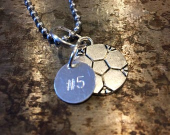 Personalized Soccer Charm Necklace