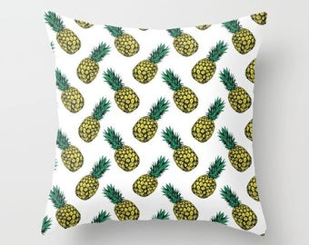 Pineapple Print Throw Cushion Covers (with pillow insert)