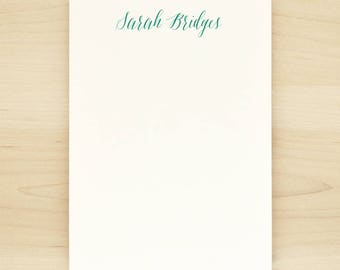 SCRIPT Personalized Notepad - Custom Letterhead Teacher Calligraphy