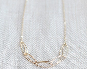 "modern chain necklace // ""serendipity"" 14k gold filled necklace // handmade jewelry"