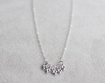 """sterling silver pendant necklace - """"starlight"""" - handmade silver necklace - dainty jewelry"""