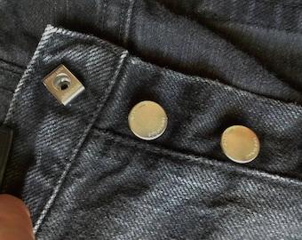 """DIOR Homme Japan Mens Dark Black Denim Jeans Size 34 x 30"""" Inseam"""