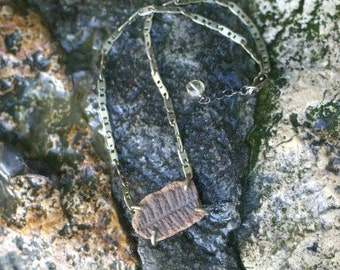 Fossil Fern Necklace