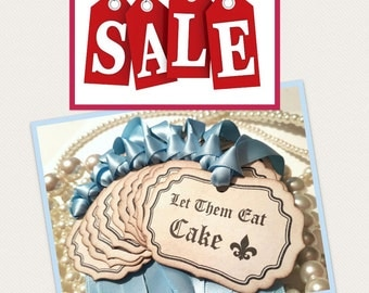 Baby Shower Favors, Wedding Cakes, Wedding Cupcakes, Cupcake Toppers, Let Them Eat Cake, Marie Antoinette Theme, Dessert Buffet Tags