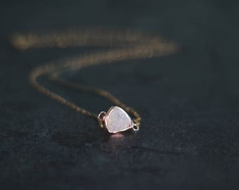 White Druzy Necklace Trillion Gold Amaretto drusy Gift for her under 50 Vitrine