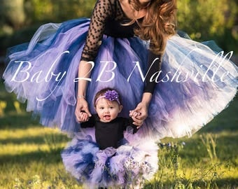 Navy Mommy and Me Tutu Mommy and Me Outfit Wedding Skirt Purple Tutu Tulle Skirt Bridal Bridesmaid Skirt Bridal Tutu Skirt Costume Tutu