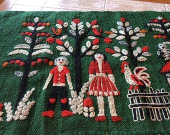 "Vintage Wall Hanging or Rug.  23"" X 52"""