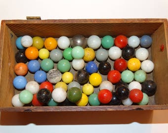 Vintage 1950's  Glass Marbles, Retro Game Marbles, Marble Course Glass Marbles, Pure Americana shooting Marbles, classic  Marble Shooter