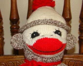 New Sock Monkey Doll from Vintage Red Heel Socks
