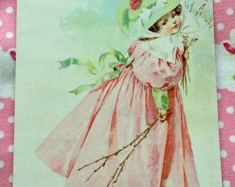 Maud Humphrey Victorian Lithograph Trade Card Crawford Ranges 1890's