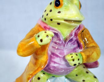 Beatrix Potter Mr Jeremy Fisher Frog Music Box Schmid - Up A Lazy River Music Box -Musical by Warne