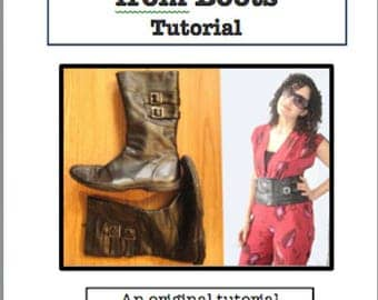 Make a Belt from Boots Tutorial